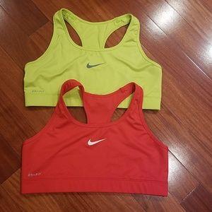 Nike sports bras bundle lot large